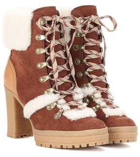 See by Chloe Claudia suede ankle boots