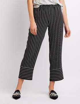 Charlotte Russe Striped Cropped Palazzo Pants