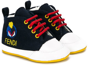 Fendi Kids embroidered logo sneakers