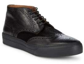 Bruno Magli Brogued Leather Chukka Sneakers