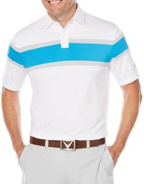 Callaway Short Sleeve Opti-Dri Chest Stripe Polo