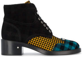 Laurence Dacade Manu 40 Houndstooth and Tartan Ankle Boots