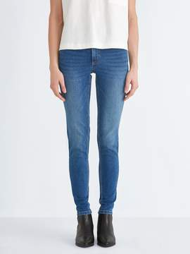 Frank and Oak The Debbie Skinny-Stretch Jean in Medium Indigo