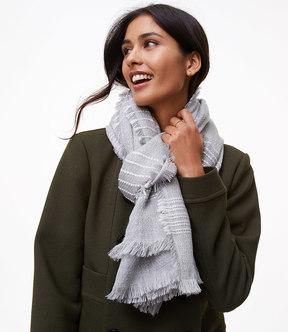 LOFT Stitched Stripe Blanket Scarf