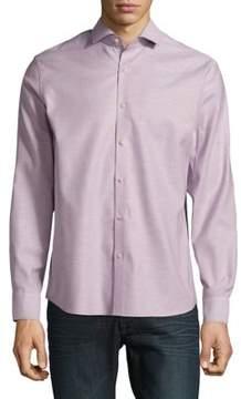 Black & Brown Black Brown Oxford Cotton Button-Down Shirt