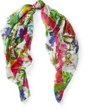 Ralph Lauren Floral Cotton-Blend Scarf