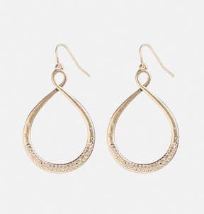 Avenue Brushed Gold Twist Earrings