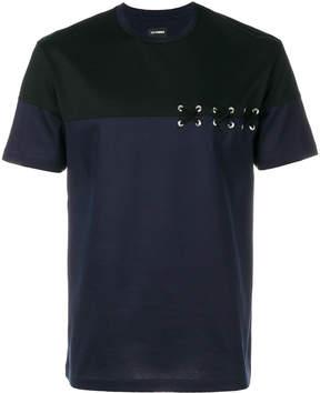 Les Hommes lace-up detail T-shirt