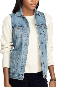 Chaps Women's Denim Vest