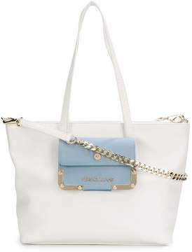 Versace patch pocket trapeze tote
