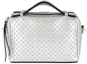 Tod's Don Bauletto Micro Pave Bag Leather Silver