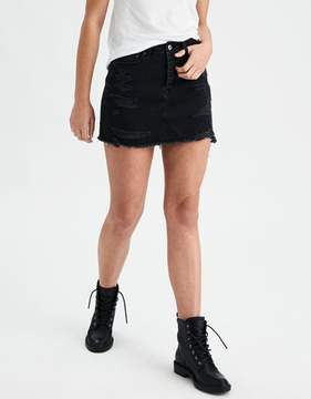 American Eagle Outfitters AE Vintage Hi-Rise Destroyed Denim Skirt
