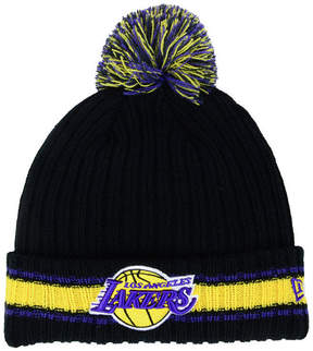 New Era Los Angeles Lakers Basic Chunky Pom Knit Hat