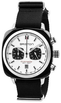 Briston Clubmaster Sport Acetate Chronograph Watch, White/Black