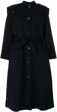 Emporio Armani belted hood coat