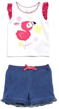 GUESS Cap Sleeve Tee and Shorts Set (0-24M)