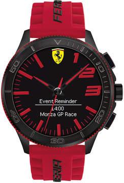 Ferrari Men's Analog-Digital Scuderia Xx Ultraveloce Red Silicone Strap Smart Watch 48mm 0830376