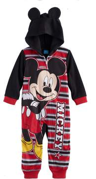 Disney Disney's Mickey Mouse Toddler Boy Hooded One-Piece Pajamas