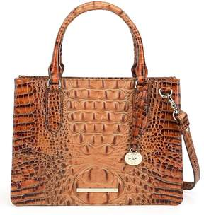 Brahmin Toasted Almond Collection Small Camille Satchel