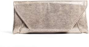 La Regale Metalic Shimmer Faux Suede Envelop Clutch.