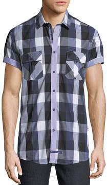 English Laundry Buffalo-Plaid Short-Sleeve Sport Shirt