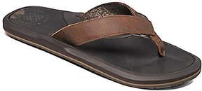 Reef Brown Machado Night Leather Flip-Flop - Men