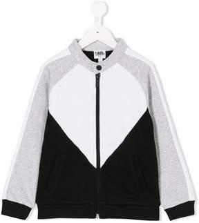Karl Lagerfeld printed back bomber jacket