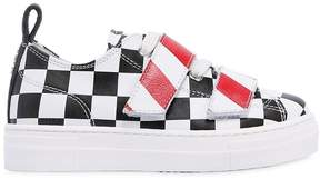 N°21 Check Printed Nappa Leather Sneakers