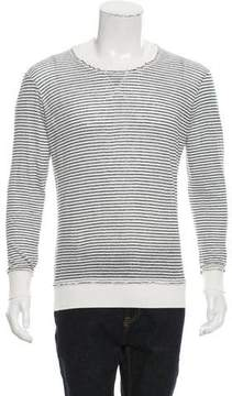 Michael Bastian Striped Crew Neck Sweater