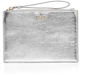 Kate Spade Highland Drive Yury Leather Wristlet - PLATINO/GOLD - STYLE