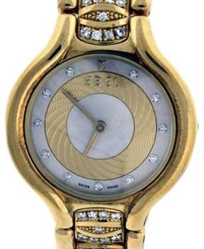 Ebel Beluga 8157411 18K Yellow Gold MOP & Diamond 24mm Watch