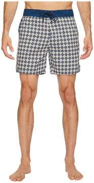 Mr.Swim Mr. Swim Star Tile Printed Chuck Boardshorts Men's Swimwear
