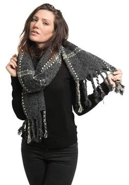 Saachi Womens Sterling Plaid Scarf.