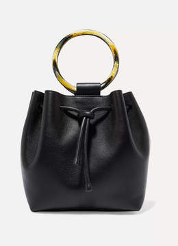 Theory Drawstring Leather Tote - Black