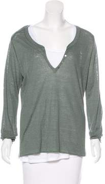 Allude Layered Linen Top