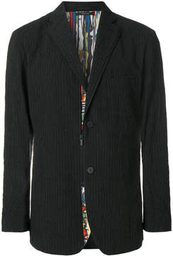 Issey Miyake boxy pinstripe blazer