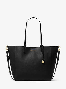 Michael Kors Penny Coated Twill Convertible Tote - BLACK - STYLE