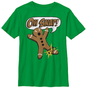 Fifth Sun Kelly Green 'Oh Snap' Gingerbread Man Tee - Boys