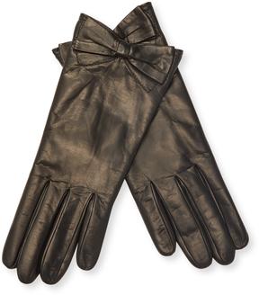 Portolano Women's Leather Bow Gloves