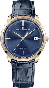 Girard Perregaux Girard-Perregaux 49525-52-432-bb4a 38mm blue alligator and rose gold automatic watch