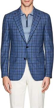 Caruso MEN'S CHECKED LINEN-WOOL THREE-BUTTON SPORTCOAT