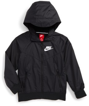 Nike Boy's Windrunner Water Resistant Hooded Jacket