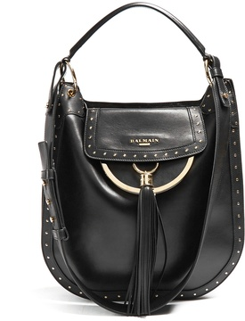 BALMAIN Domaine 33 leather shoulder bag