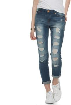 Almost Famous Juniors' Rolled Skinny Ankle Jeans