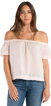 Bella Dahl Pintuck Off Shoulder Top-Pink Daisy-XS