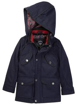 Urban Republic Mixed Media Wool Military Jacket (Toddler & Little Boys)