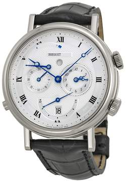 Breguet Classique Alarm White Gold Black Leather Men's Watch