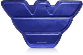 Emporio Armani Laminated Leather Eagle Shoulder Bag