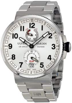 Ulysse Nardin Marine Silver Dial Stainless Steel Automatic Men's Watch