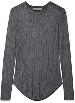 IRO Skogik Metallic Pointelle-knit Top - Gray